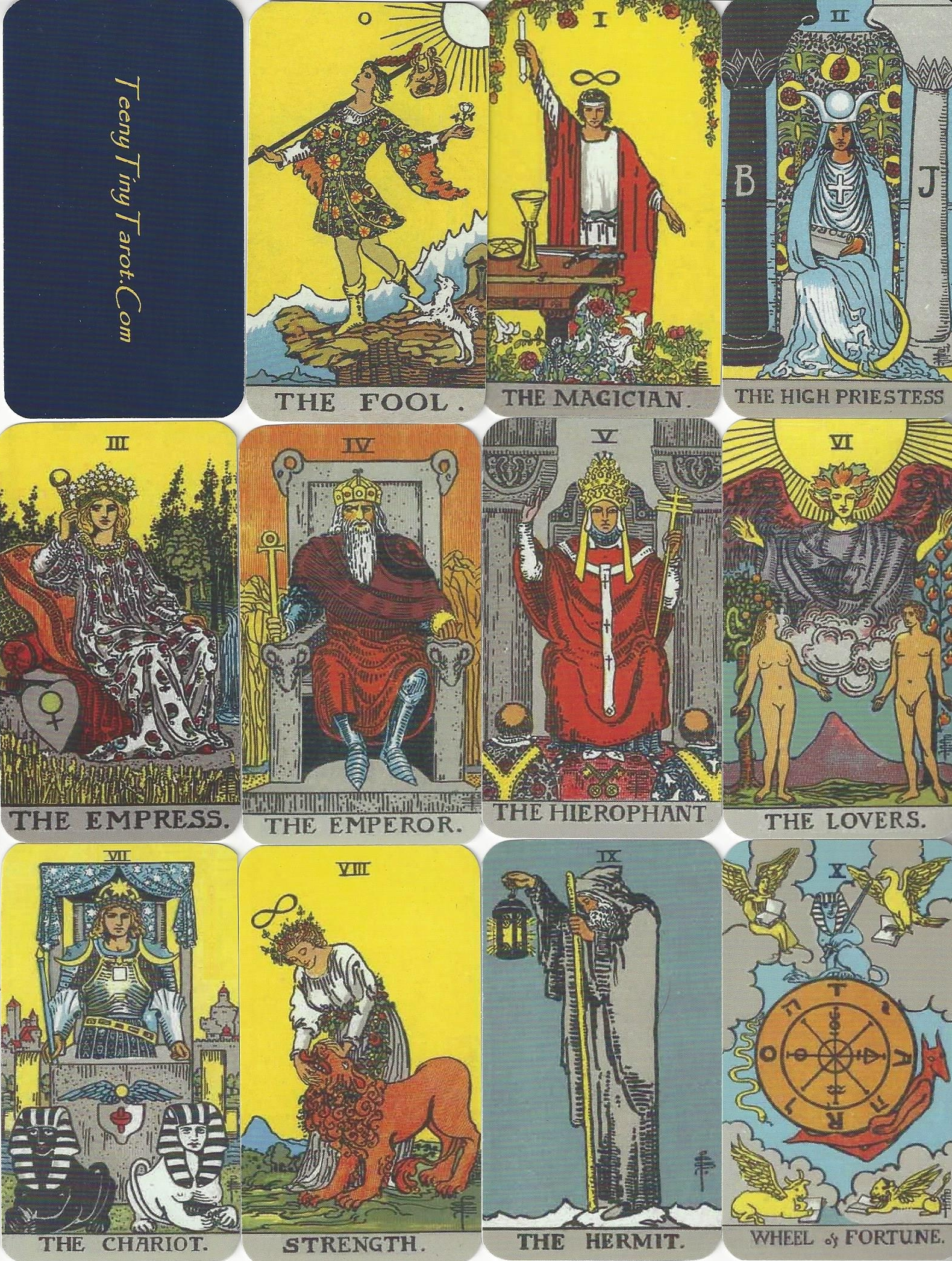 "The Tarot Parlour Email Readings: Order ""RWS Style"" Tarot Trumps"